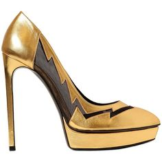 "Saint Laurent ""Janis"" Metallic Pumps"