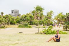 Janelle at Tulum Ruins #DestinationWE #Tulum #MayanRuins #RivieraMaya #PlayadelCarmen #Mexico #MexicoTourism #Destinations #Travel
