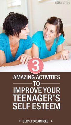 3 Amazing Activities To Improve Teenager Self Esteem : Do you have a teen at home cribbing about facial hair or the most painful pimples? Do not worry! Check 3 amazing activities to improve teenager self esteem. Source by momjunction and me activities Positive Self Esteem, Low Self Esteem, Activities For Teens, Therapy Activities, Group Activities, Parenting Teenagers, Parenting Advice, Raising Teenagers, Parenting Classes