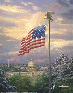 America's Pride by Thomas Kinkade