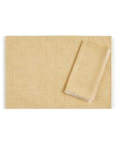 Lenox French Perle Buttercup Placemat - Yellow