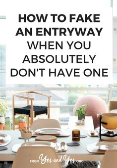 Want to fake an entryway? Make a small space look a little special? Click through for clever ways to make your space more inviting and create an entryway where one doesn't exist! Small Rooms, Small Spaces, Creating An Entryway, Stair Banister, Rental Space, Old Crates, Small Entryways, Inviting Home, White Picket Fence