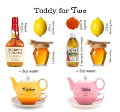 hot toddy for two Vinegar And Honey, Hot Toddy, Honey Lemon, Refreshing Drinks, Makers Mark, Good To Know, Home Remedies, Beverages, Health