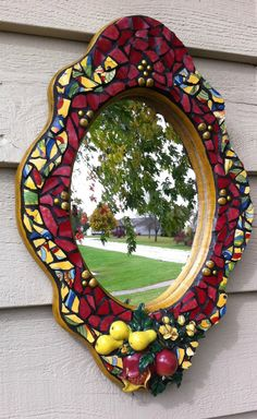 Mosaic Mirror Upcycled Recycled Pique by PiecebyPieceMosaic