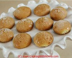 Nonna's Round Cookies for Coffee