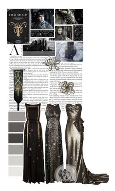 """House Greyjoy - Game of Thrones Challenge"" by inlovewithabook ❤ liked on Polyvore featuring Badgley Mischka, Temperley London, Marchesa and Christian Dior"