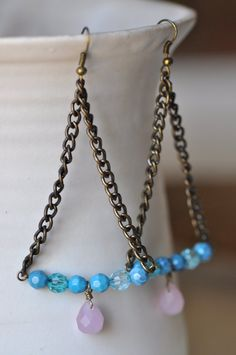 Chain Dangle Earrings (со страницы boho earrings on Wanelo)