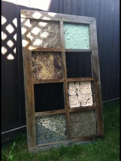 Antique tin ceiling tile creations