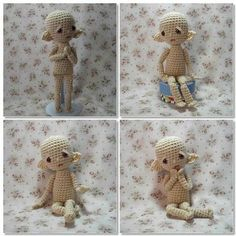 crochet doll pattern with pose able arms and legs.