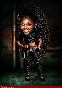 Janet Jackson #Caricature #FunnyFaces