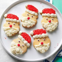 Sugar cookies are a sweet addition to any holiday or occasion. Find the best sugar cookie recipes, including easy sugar cookies, frosting and icing recipes, plus more ideas. Santa Cookies, Holiday Cookies, Holiday Treats, Cookies Kids, Best Christmas Cookie Recipe, Best Cookie Recipes, Spritz Cookies, Cut Out Cookies, Thumbprint Cookies