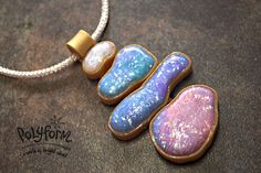 premo! Accents Watercolor Faux Opal Pendant from Syndee Holt   #Polymer #Clay #Tutorials