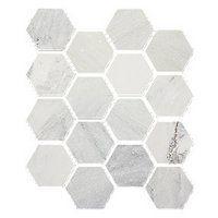 Hampton Carrara Hex Marble Mosaic Tile 3 X 3 In 19 99