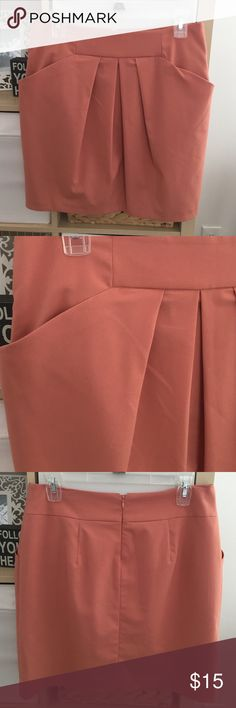 Coral Pleated Mini From forever 21's more modest brand. Only worn a handful of times. love 21 Skirts Mini