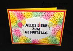 jpp - Glückwunschkarte / Birthday Card / Geburtstag / Luftballons / Stampin' Up! Berlin Konfetti Prägefolder / Party Grüße / Stanzenpaket Party www.janinaspaperpotpourri.de