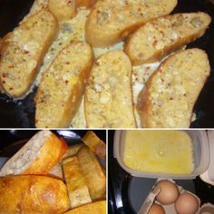 So I kinda invented this,lol. Garlic Loaf French toast seasoned with crushed chillies and lemon and herb. NO OIL, done in theicrowave for a few minutes and BOOM! It's already a hit with the fam.