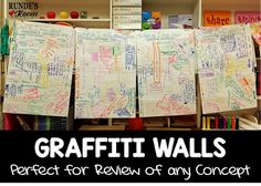 Graffiti Walls provide the perfect review or diagnostic for any concept.  They are also a fun collaborative activity for reading completing reading responses.