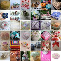 Another overall look at examples of different pin cushions.  Photo via web.....