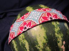Red/Blue/Orange Boho Headband on Etsy, $7.00