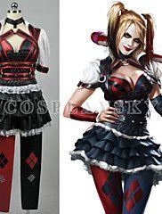 Batman Arkham Asylum City Harley Quinn Dress Cosplay Costume