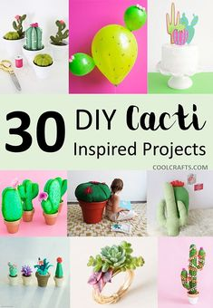 30 DIY Cactus Crafts Not From the Dessert