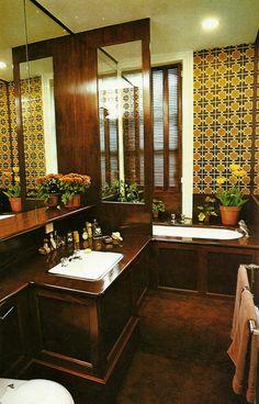 living in the past 1970s Decor, Vintage Interior Design, Barbie Dream House, Vintage Bathrooms, Interior Architecture, Terence Conran, Room Decor, Googie, Houseplant
