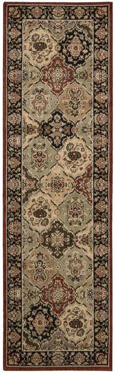 Kathy Ireland Lumiere Persian Tapestry Multicolor Area Rug By Nourison KI601 MTC (Runner)