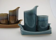 Cream and Sugar sets by Oxide Pottery.