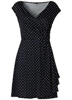 Vestido de Bolinhas Preto - Posthaus