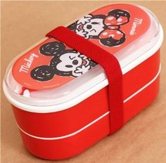 Amazon.com - red Mickey and Minnie Mouse Bento Box Lunch Box from Japan