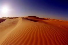 The desert with sand dunes (Algeria)