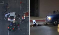 Shocking moment a pickup truck hits female BLM protester in Hollywood