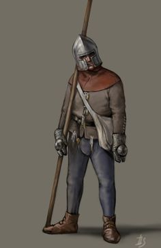 Medieval infantry on Behance Medieval Knight, Medieval Armor, Medieval Fantasy, Dark Fantasy, Medieval Peasant, Wars Of The Roses, Maori Art, Jackson, 15th Century
