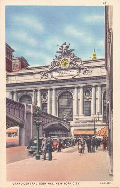 New York City New York Grand Central by postcardsofthepast on Etsy