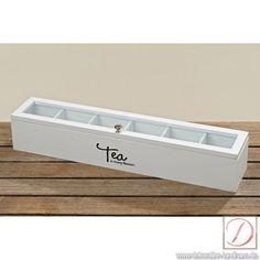Tee-Box Lemgo weiß Holz B45cm