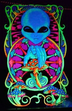 Images of art aliens psychedelic - Psychedelic Art, Fantasy Kunst, Fantasy Art, Trippy Alien, Arte Alien, Acid Art, Stoner Art, Black Light Posters, Psy Art