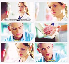 """Doctor. Thank you."" - Michael and Sara #PrisonBreak"