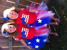 Flag shirts & tutus!