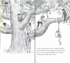 우리 나라에는 [나무는 좋다]로 번역된 A TREE IS NICE 입니다. Marc Simont의 아름다운 일러...