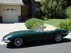 The E-Type's profile is what made it an icon. The long hood and short rear deck were reminiscent of nothing else on the road. This car has had a full restoration, so it looks even better than new.