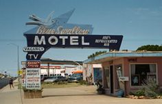 Tucumcari, NM. My Grandpa made the neon sign for this motel on Route 66! Ace Sign Company