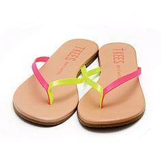 TKEES Flip-Flops in Pink Citrus, $48; singer22.com