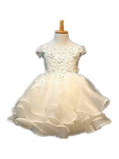 64.60$  Buy now - http://aliyxc.worldwells.pw/go.php?t=32509193403 - BABY WOW White Toddler Baby Girl Christening Gowns, Flower Girl Dresses for Weddings Christmas Dress Roupas Infantis Menina 8075 64.60$