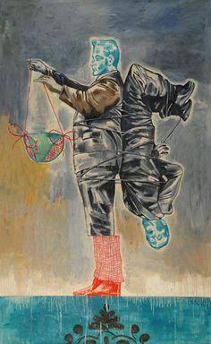 Nicky Nodjoumi, Iran: Just having Fun. Oil on canvas 244 x cm, 2010 Bad Painting, Figure Painting, Painting & Drawing, Contemporary Artwork, Modern Art, Arte Lowbrow, Iranian Art, Loveless, Turkish Art