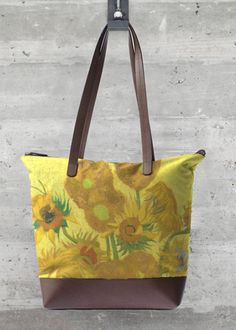 Llamativo Bagnapper Gogh Girasol Le Bolso Amarillo Van De 4qzxdv
