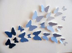 Use paint chips to make the butterflies.