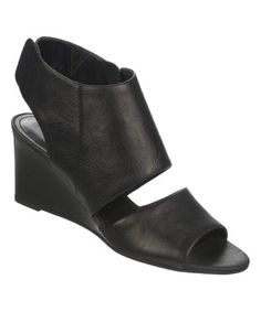 Another great find on #zulily! Black Kressa Leather Wedge by Franco Sarto #zulilyfinds