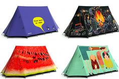 Ever get lost in the miles of bland-colored tents outside your favorite festival? Spy your spot on the fly with these creative tent designs