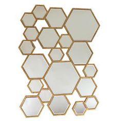 Hay Hexagonal Wall Mirror