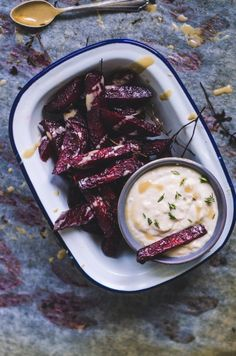 Roasted Beet Chips / Horseradish & White Beans - Vegan